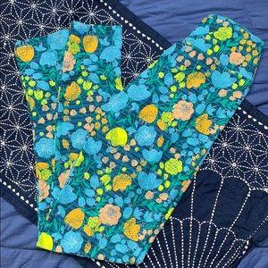 Lularoe pastel floral one size leggings